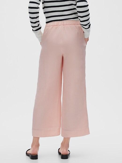 Rowan Wide-Leg Pull-On Crop Pants