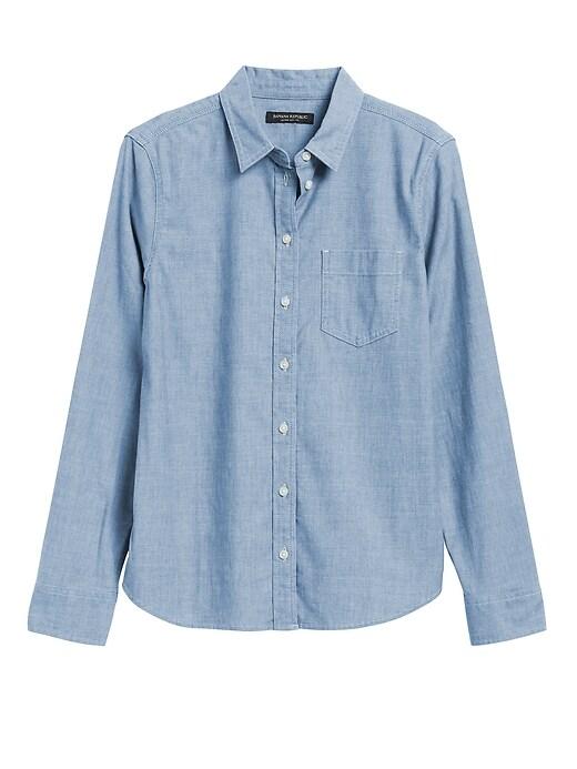 Petite Quinn Straight-Fit Denim Shirt