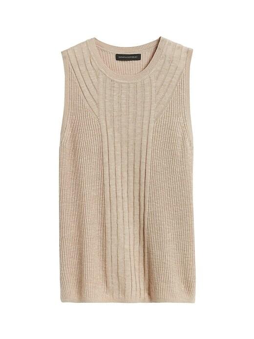 Linen-Blend Sweater Tank