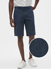 Deals on Banana Republic Factory 11-in Emerson Navy Stripe Shorts