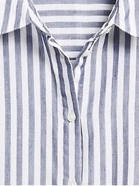 Cotton Gauze Roll-Cuff Shirt