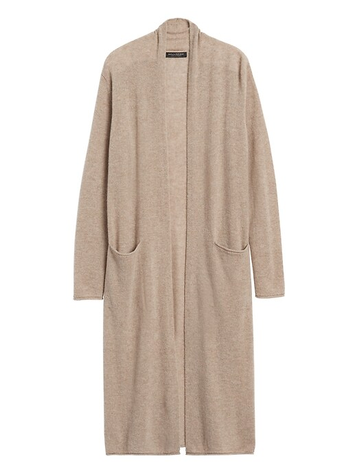 Chandail-cardigan long en cachemire