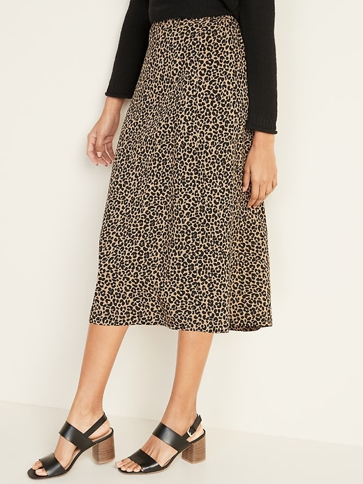 Lightweight Midi Slip Skirt for Women