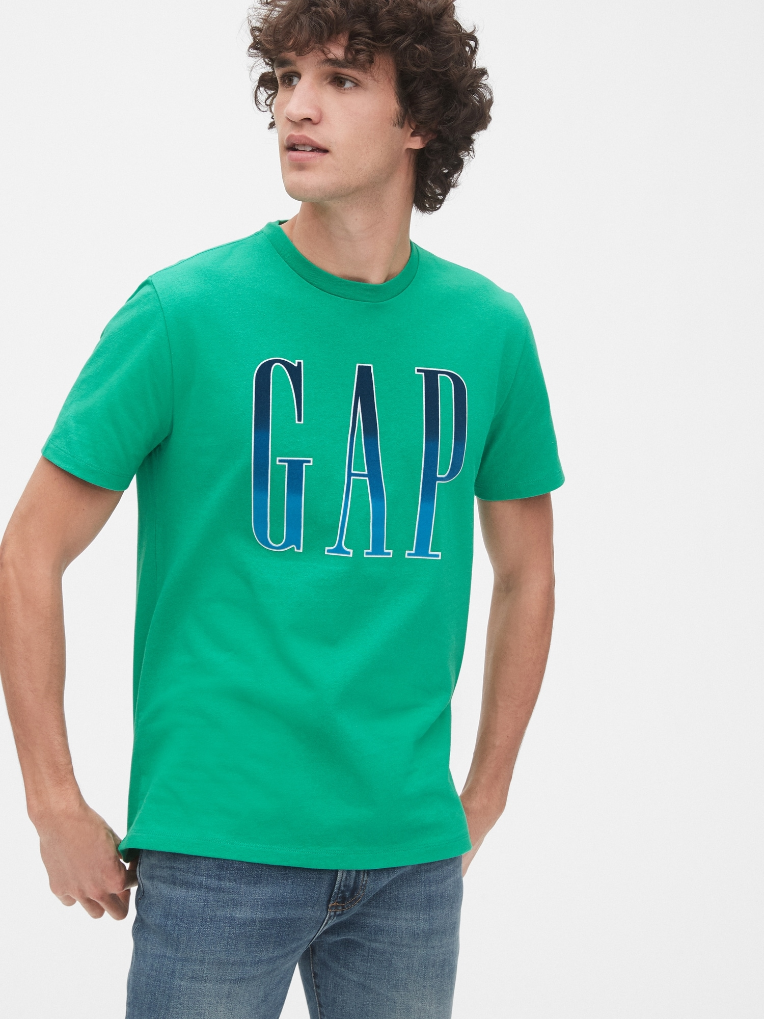 Gapロゴクルーネックtシャツ