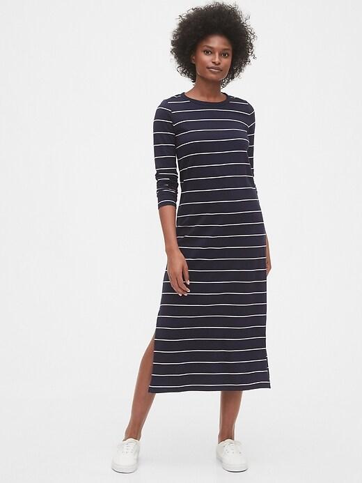 Long Sleeve Knit Midi Dress