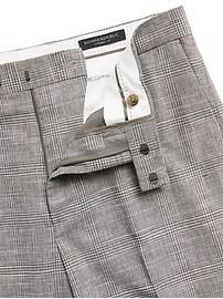 Slim Tapered Italian Plaid Suit Pant