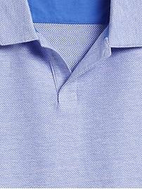 Luxury-Touch Print Polo