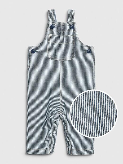 Baby Railroad Stripe Overalls