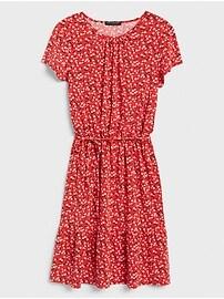 Petite Flounce-Hem Fit-and-Flare Dress
