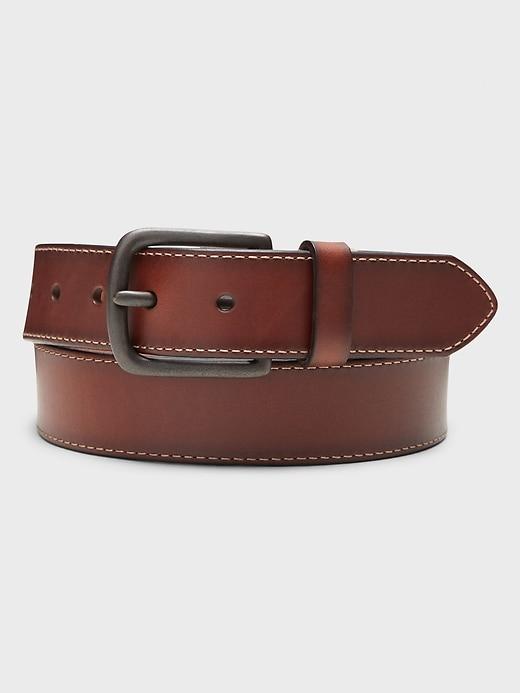 Stitched Brown Belt