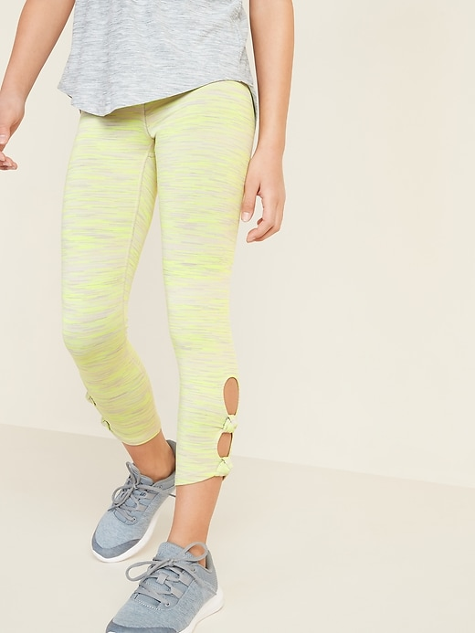 Balance Go-Dry 7/8-Length Knotted Leggings for Girls
