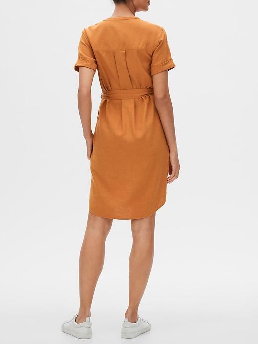 Short Sleeve Dress in Linen
