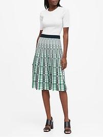Pleated Sweater Skirt