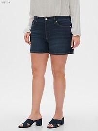 Dark Wash Denim Shorts - 4 inch inseam