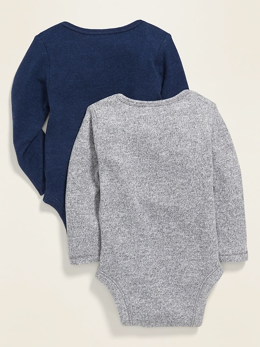 Plush-Knit Bodysuit 2-Pack for Baby