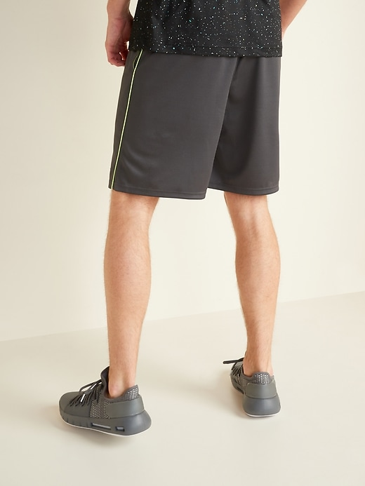 Go-Dry Mesh Neon-Piping Performance Shorts for Men -- 9-inch inseam