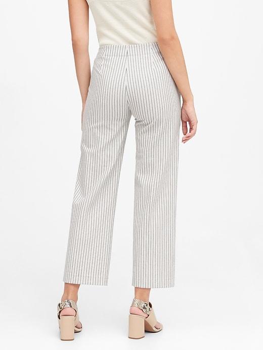 Petite Slim Wide-Leg Cropped Sailor Pant