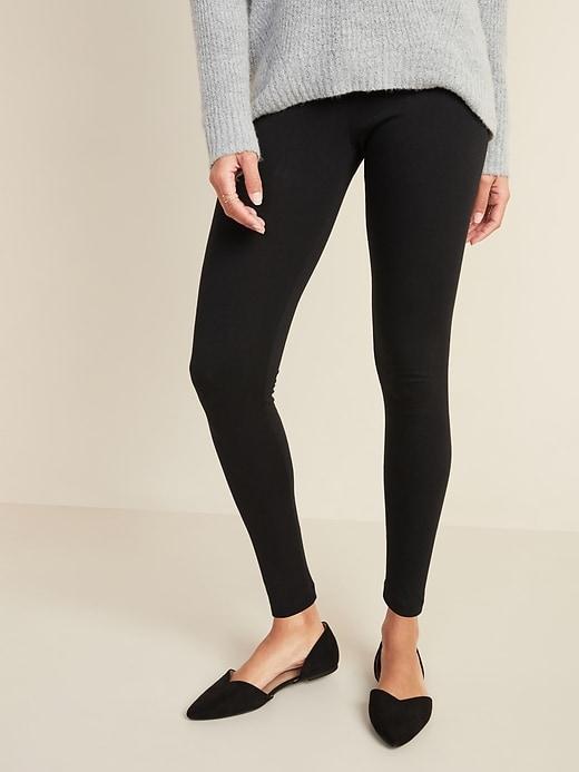 Mid-Rise Jersey Leggings for Women