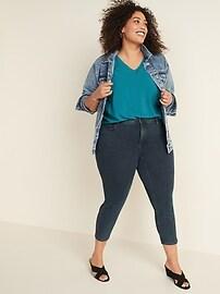 High-Waisted Secret-Slim Pockets Plus-Size Side-Slit Cropped Rockstar Jeans