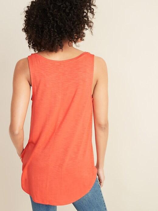 Luxe Slub-Knit Jersey Tank Top for Women