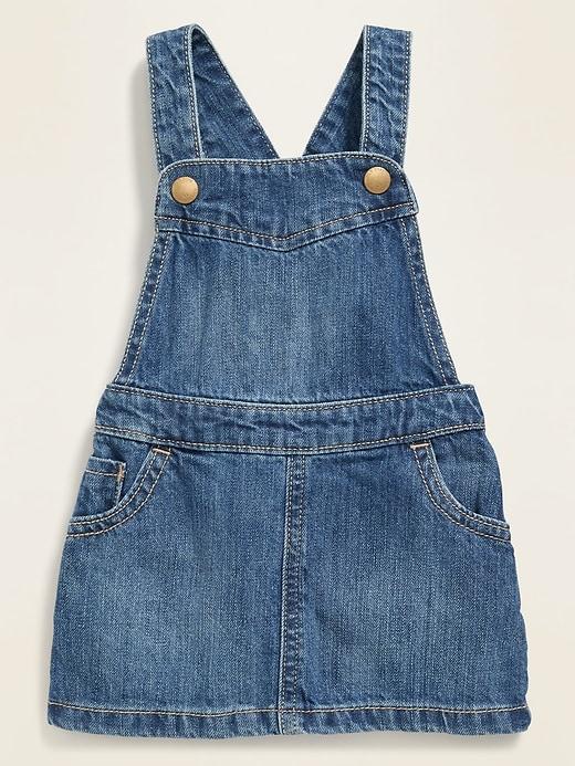 Ruffled-Back Jean Skirtall for Baby