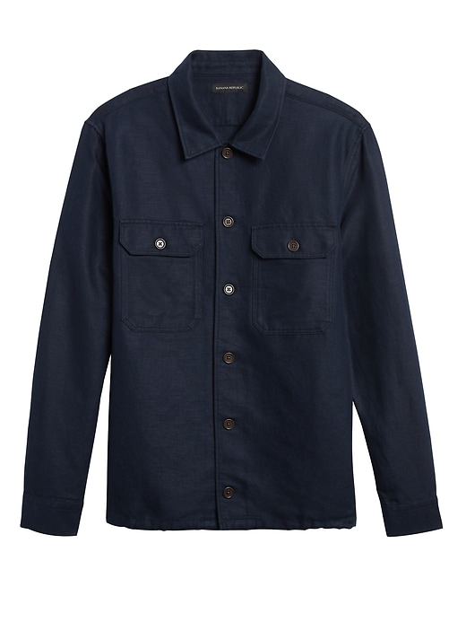 Banana Republic Linen-Cotton Coach's Jacket