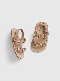 Gap Baby Girl Dot Chambray Hi-Top Sneakers Shoes Size 18M-24M