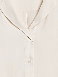 Petite Camp-Collar Blouse