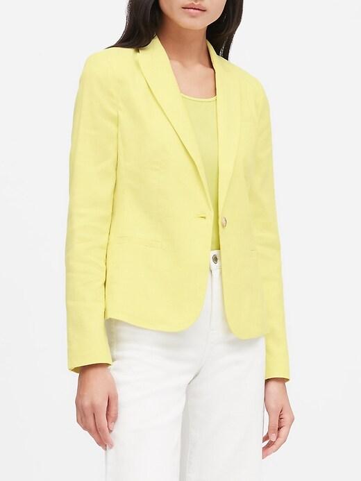 Banana Republic Classic-Fit Linen-Cotton Women's Blazer
