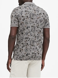 Luxury-Touch Floral Polo