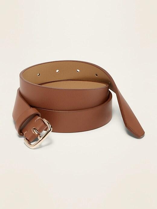 """Faux-Leather Belt for Women (1"""")"""