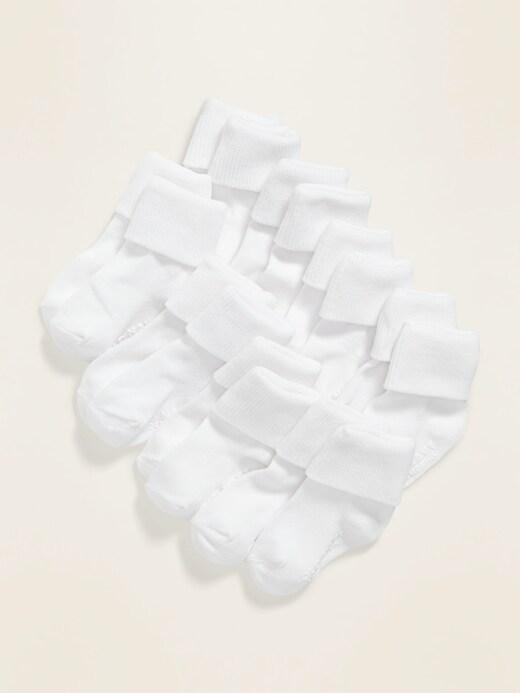 Triple-Roll Socks 8-Pack For Toddler & Baby