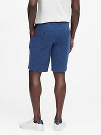 Short droit en lin et coton, 28cm