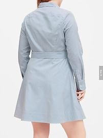 Stripe Poplin Shirt Dress