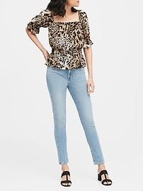Leopard Print Cropped Top