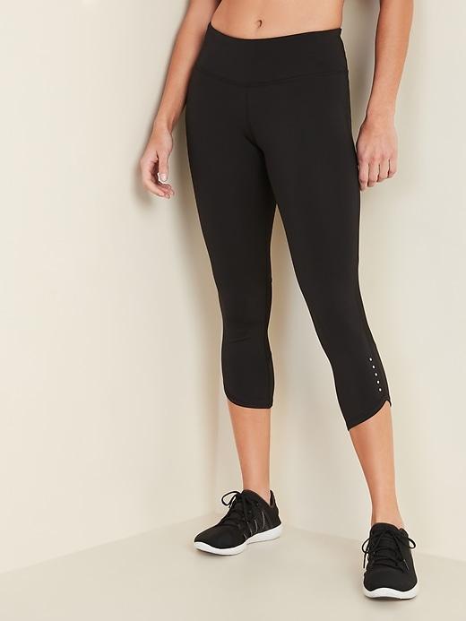 Capri de compression pour la course à taille taille moyenne pour femme