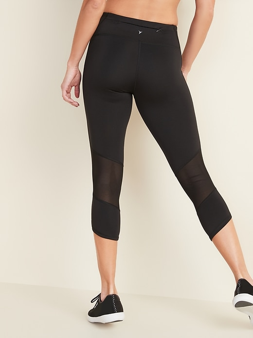 Mid-Rise Elevate Compression Run Crops for Women