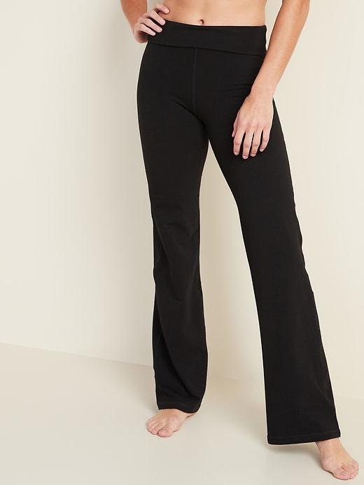 Mid-Rise Wide-Leg Yoga Pants for Women