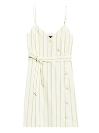 Petite Button-Front Mini Dress