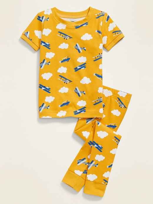 Airplane-Print Pajama Set for Toddler Boys & Baby