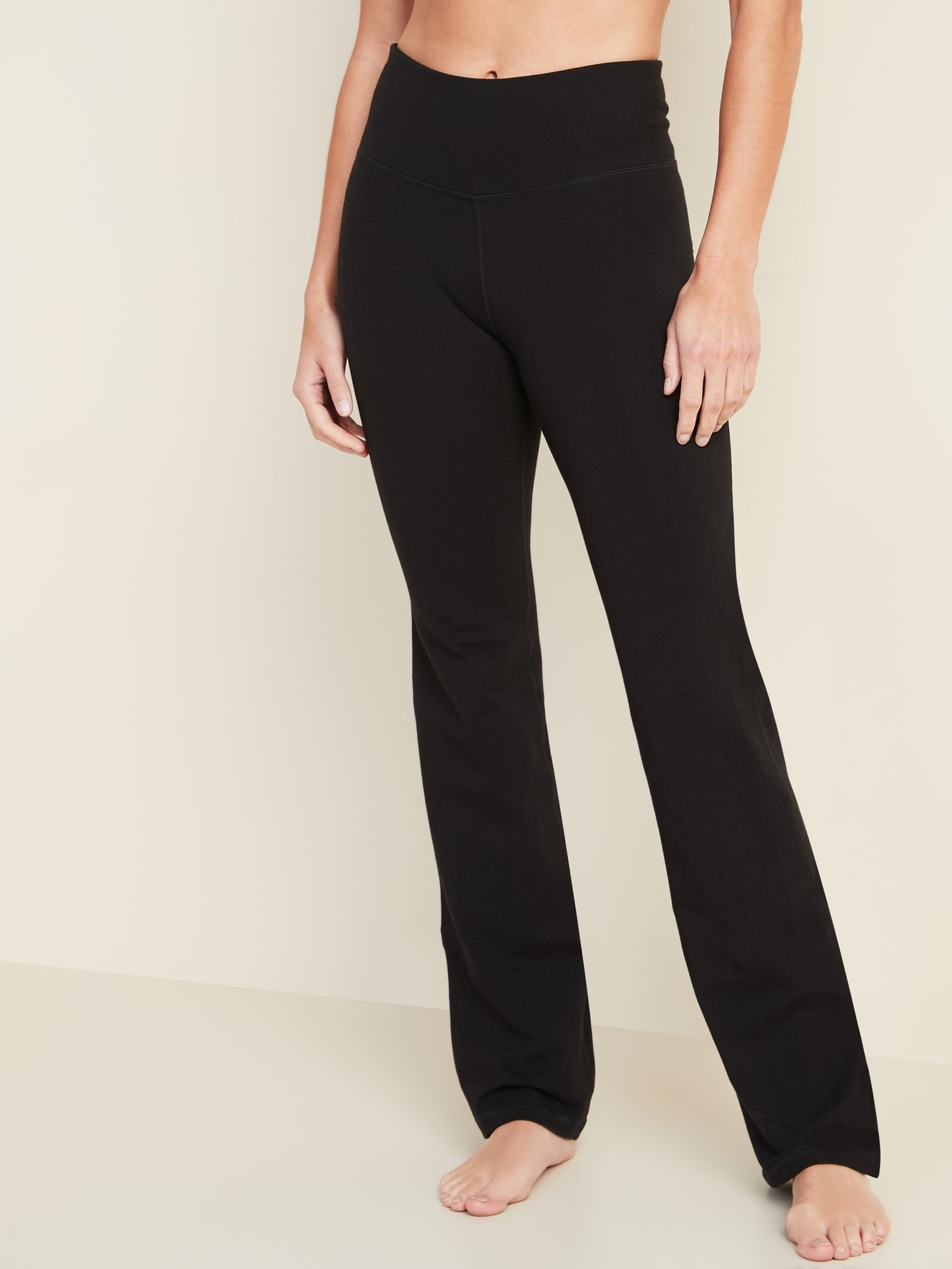 High Waisted Slim Boot Cut Yoga Pants For Women Old Navy