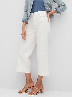 bananarepublic Organic Cotton High-Rise Wide-Leg Crop Jean