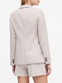 Long & Lean-Fit Linen-Cotton Blazer
