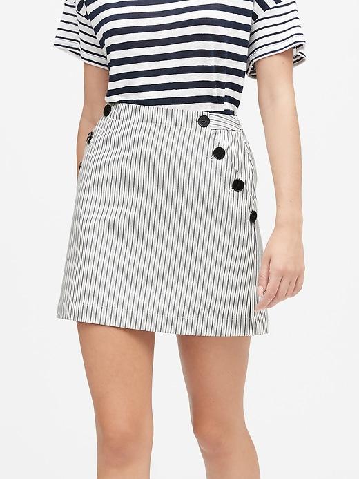 Petite Bi-Stretch Sailor Mini Skirt