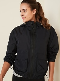 Deals on Old Navy Go-H20 Water-Resistant Hooded Utility Jacket for Women