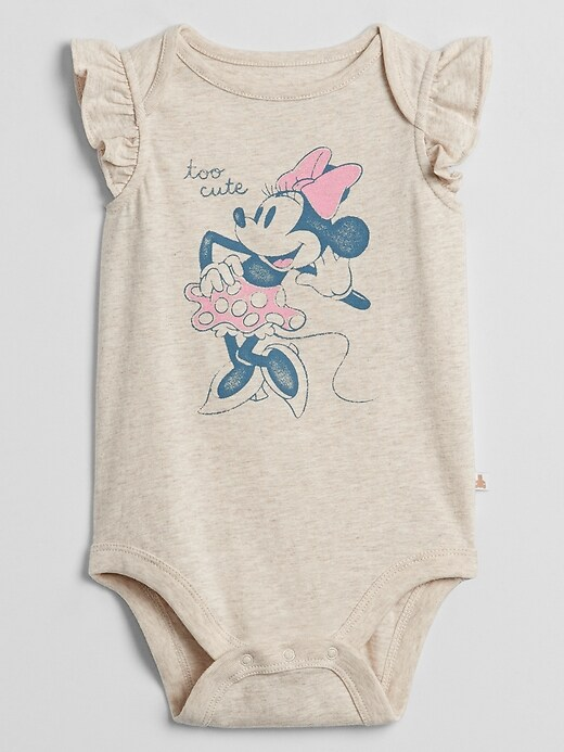 babyGap &#124 Disney Minnie Mouse Ruffle Sleeve Bodysuit