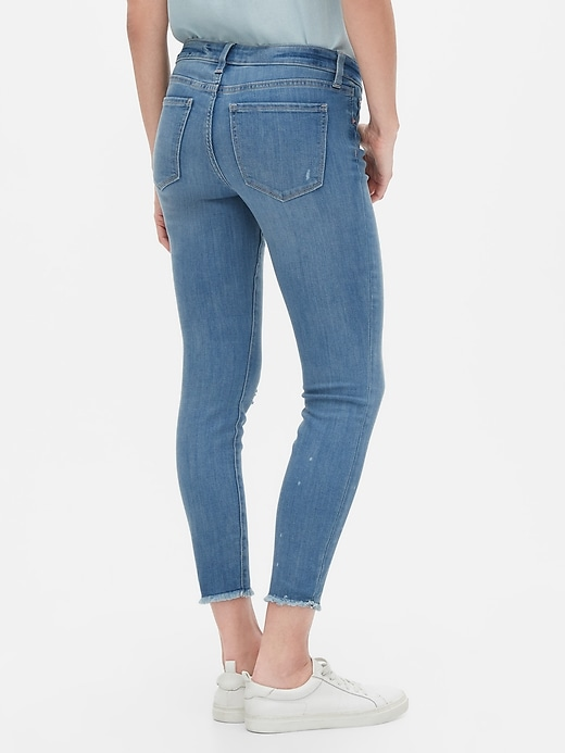 Mid Rise Distressed Legging Skimmer Jeans
