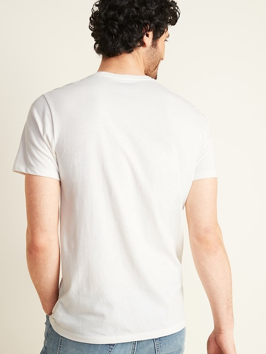 Soft-Washed Logo-Graphic Tee for Men