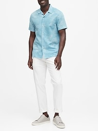 Slim-Fit Linen-Cotton Resort Shirt