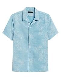 Deals on Banana Republic Slim-Fit Linen-Cotton Resort Shirt